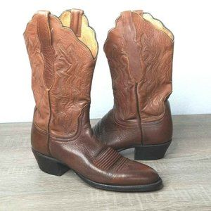 Lucchese 2000 Womens Western Boots Brown Leather M